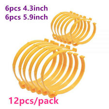 12 Pack (6pcs 4.3in and 6pcs 5.9in) Sooper Clip Material Roll Clips