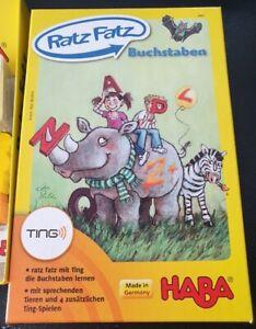Haba Ratz Fatz Buchstaben Lernspiel mit dem Ting Stift (nicht dabei) 4-8 Jahre