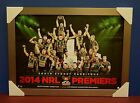 2014 NRL Premiers South Sydney Rabbitohs OFFICIAL PRINT SILVER FRAME SAM BURGESS