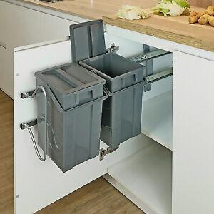 THHA-System Einbau Abfallsammler Seitenwand Abfalleimer Mülleimer Küche