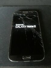 Verizon Samsung Note Ii 2 i605 Black Lcd Digitizer Only - Cracked, Touch Works