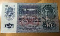 1915 AUSTRIA HUNGARY TIZ 10 KORONA NOTE SCARCE THIS NICE