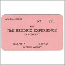 Jimi Hendrix Experience 1968 Lewiston Maine Concert Ticket (USA)