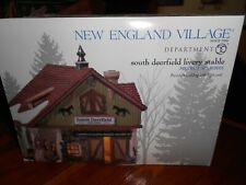 Dept 56 New England Village Accessory South Deerfield Livery Nib *Still Sealed*