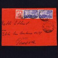 ITALY 1949, Special Delivery letter from Cagliari to Genova, Sc# E26, 487
