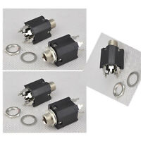 5pcs Black 6.35mm Stereo Audio Socket for Amplifier Headphones MIC s492