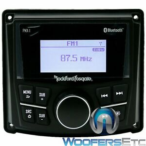 ROCKFORD FOSGATE PMX-1 MARINE BOAT 200W AMP MEDIA RECEIVER BLUETOOTH USB AUX NEW
