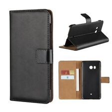 HTC U11 Wallet Case Genuine Split Echt Leder Book Etui Schutz Hülle Cover Bag