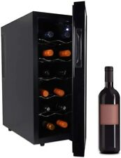 12-Bottle Thermoelectric Wine Cellar Cooler for Red or White Wine in Small Kitch