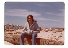 Vintage Photo Handsome Young Man Mustache 1970's, Jan18