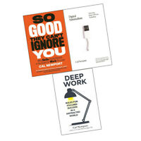 Cal Newport 3 Books Collection Set  Deep Work, So Good, Digital Minimalism NEW