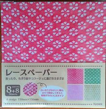 Beautiful Japanese Lace Paper Washi with Origami Paper Made in Japan