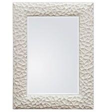 XXL design moderne Miroir mural cadre 117x87 blanc en exclusivité Woe