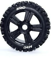 HRC Komplettrad Bulldog für Buggy 1:8, schwarz, 17mm - HRC60816BK