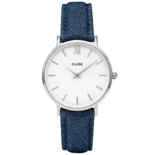 Relojes de pulsera baterías Blue de tela/cuero