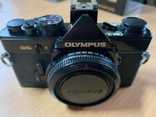 Olympus OM-2n 35mm SLR Film Camera black  JUST SERVICED