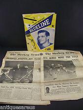 THE HOCKEY MONTHLY BLUELINE 1955 THE HOCKEY NEWS 1957 ETC LOT