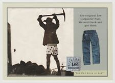 LEE DUNGAREES Riveted Carpenter Pants 1997 Tower Records Go Card Rack Postcard