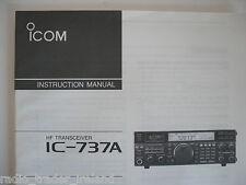 Icom-737a (Genuino Manual de instrucciones sólo).......... radio_trader_ireland.