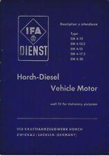 Horch-Diesel Vehicle Motor Typ EM 4-10 / 4-12,5 / 4-15 / 4-17,5 / 4-20 englisch