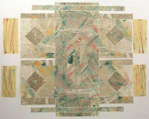"Nancy Strong ""52388-60"" Original Monoprint Hand Signed Fine Art 1988 Make Offer!"