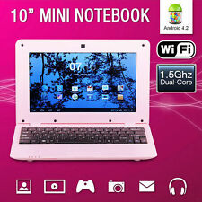"New 10"" 1.5Ghz WIFI Android 4.2 Pink Mini Notebook Laptop Computer Netbook PC"