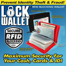 Lock Wallet RED - RFID Blocking Wallets- RED