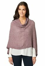 Bonita bufanda señora punto poncho mantoncillo 1203656 lila onesize