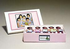 Dollhouse Miniature - Dionne Quintuplets Doll Box - Dollhouse girl nursery 1:12