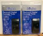 2 Holiday ELECTRONIC DIGITAL OUTDOOR TIMER  Woods New  photo