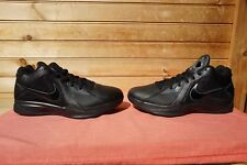 2011 Nike KD 3 Blackout Black Dark Grey Sz 8 (L923) 417279-002