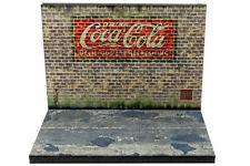 Diorama Publicité murale Coca-Cola - 3 inch   1/64ème - #3in-2-K-K-005