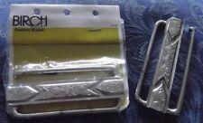 1990s VINTAGE SILVER METAL 9 cm CUMMERBUND BELT, BIRCH BRAND, WAIST CLASP, AUST