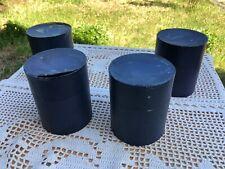4 Cylindres en Cire Brune Pour Phonographe Phenix Modèle 1903