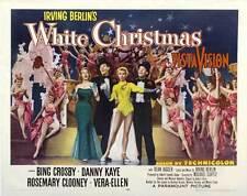 WHITE CHRISTMAS Movie POSTER 22x28 Half Sheet Bing Crosby Danny Kaye Rosemary