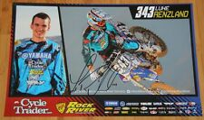 2015 Luke Renzland signed Cycle Trader Yamaha YZ250F Supercross Motocross poster