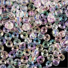 Perles de Rocailles en verre Transparent 4mm Cristal AB 20g (6/0)