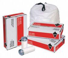 Tough Guy 1DZE4 10 Gal Extra Heavy Drawstring Trash Bags | White | 250 Bags