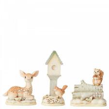 More details for  jim shore heartwood creek white woodland mini set of 3 animal figurine 6004169
