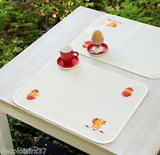 Vervaco  0150024  2 Sets de table  Poussins  Broderie  Point de Croix  Compté