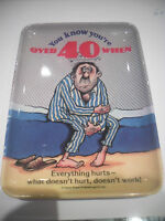 VINTAGE FUNNY  QUIRKY  OVER 40 JOKE  MELAMINE ASHTRAY