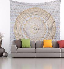 Gold Ombre Indian Mandala Deepawali Tapestry Bohemian Wall Hanging Decor Art New