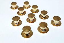 Pin Keeper Sicherung Pin Lock  Feder Klick System Kutte Weste Trucker gold Nadel