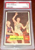 1957 Tom Heinsohn RC Boston Celtics basketball NBA HOFer PSA 5 ROOKIE Card Tommy