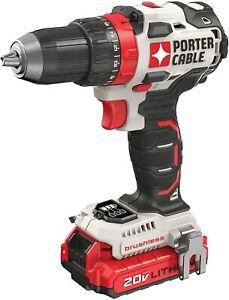 PORTER-CABLE 20V MAX 1/2-Inch Cordless Drill / Driver Kit 2 batteries, PCCK607LB