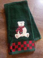 Adorable Christmas Terry Cloth Kitchen Bathroom Dish Towel Teddy Bear  Vintage