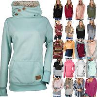 Plus Size Womens Winter Hoodies Sweatshirt Long Sleeve Hooded Coat Pullover Tops