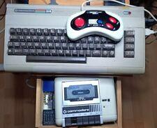 Commodore C64Set mit Datasette, Joystick und Spiel