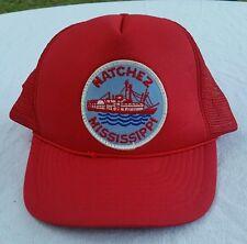 Vintage truckers snapback hat steamboat Natchez Mississippi