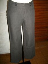 Pantalon 100% lin marron COMPTOIR DES COTONNIERS 36 Retro lin leger 15ETPF28